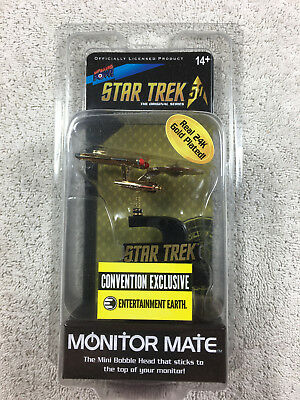 STAR TREK: TOS 24K Gold Plated Enterprise Monitor Mate - Convention