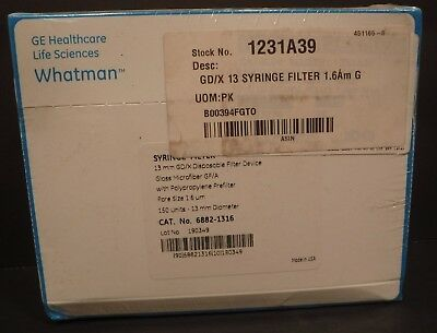 Whatman Syringe Filter #6882-1316 13mm GD/X Disposable Filter Device 150/Box