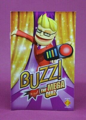 Instruction Booklet/Manual Only For Buzz The Mega Quiz Ps2 (No Game) ❄️Oz Seller