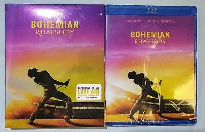 Bohemian Rhapsody (Blu-Ray, DVD, Digital, w/Slipcover, 2019)