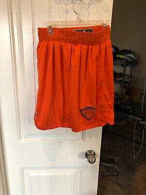 d88b5f8bb9f Adidas Boy s Size Large NBA Authentics New York Knicks Basketball Shorts  Orange