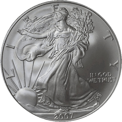 2007-W Silver American Eagle $1 NGC MS70 Early Releases Blue Label STOCK