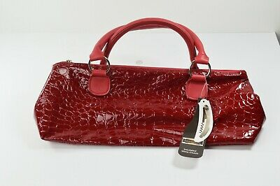 Primeware Insulated Wine Clutch Red Animal Print Patent Leather Corkscrew Incl.