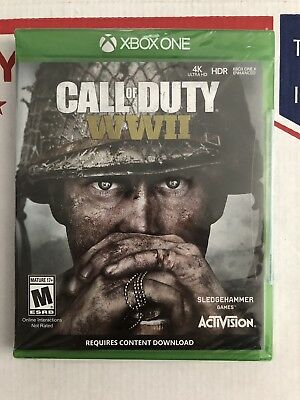 Call of Duty: WWII (Microsoft Xbox One, 2017) Brand New / Factory Sealed