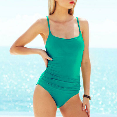 86543f4fadc Anne Cole Classic Lingerie Ruched Maillot One-Piece Swimsuit 8 Teal Jade  DKGRN