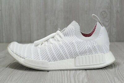 NEW adidas NMD R1 STLT PK Men's Size 13 Cloud White Boost Running Shoes CQ2390