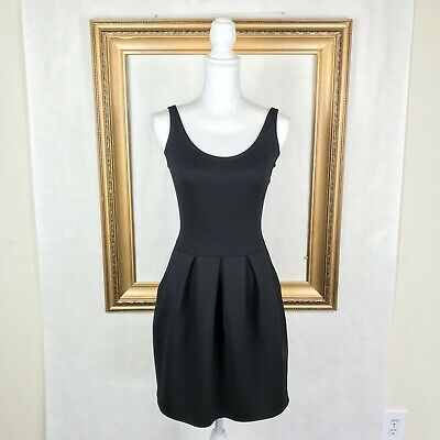 fc7f6aed6a5 Wilfred Aritzia 2 Dress Black LBD Scoop Fit Flare A Line Stretch Party  Cocktail