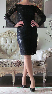 New EMILIO PUCCI Runway Black,Fulyl in Lace Lamé,Lined dress US 0-4,XXS-XS,IT 40
