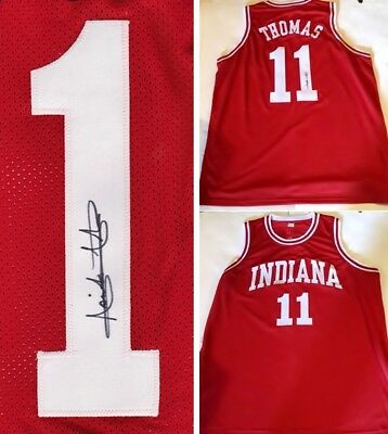 the best attitude 0f089 773f3 ISIAH THOMAS AUTOGRAPHED Indiana University Jersey - $79.99 ...