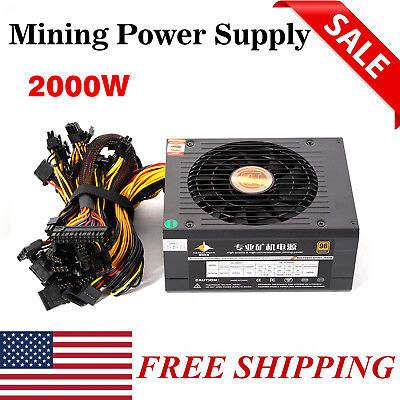 Bitcoin Miner Power Supply BTC ETH Ethereum Mining Machine Power Supplier 2000W