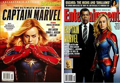 Entertainment Weekly CAPTAIN MARVEL Brie Larson 2019  LOT of 2  NEW   53% OFF