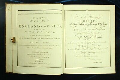 Cary NEW MAP OF ENGLAND WALES PART OF SCOTLAND 1794 79 plates LORD NELSON 1STNR
