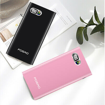 AU FDGAO Metal 2USB 50000mAh LCD Power Bank Battery Charger For iPhone XR XS Max