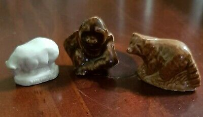 Wade Red Rose Tea Whimsie Whimsey Animal Lot of 3