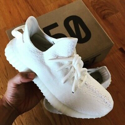 34043b4a4f0 ADIDAS YEEZY BOOST Triple White Cream Mens size 7.5 Shoes    Art ...