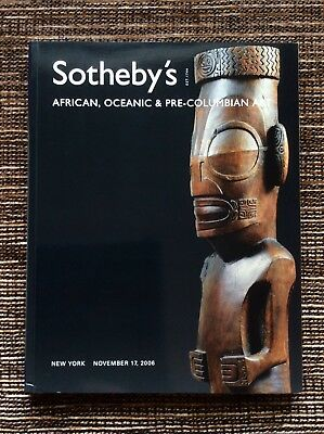 RARE 2006 Sotheby's Auction Catalog: African, Oceanic and Pre-Columbian Art