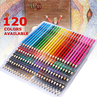 120 Colored Wood Pencils Artist Painting Oil Art Drawing Sketching Set Non-toxic