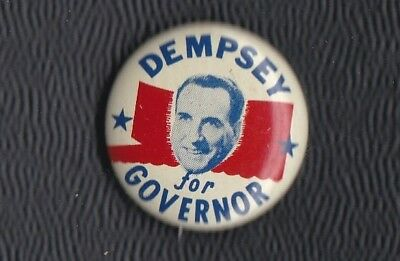 1960 John Dempsey for Governor of Connecticut pinback, Democrat born Ireland, 1""