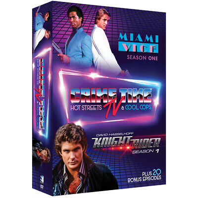 NEW Crime Time TV Hot Streets & Cool Cops DVD Set Ft. Miami Vice & Knight Rider