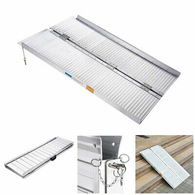 1.2m Aluminium Folding Loading Access Ramp Portable Wheelchair Mobility Scooter