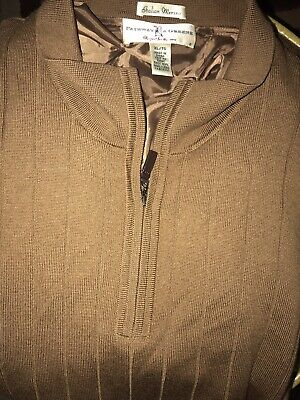 d582b806f888 Fairway   Greene Men s 100% Italian Merino Wool 1 4 Zip Lined Golf Sweater