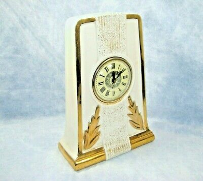"""Vintage Le Miena China Mantle Clock with Lanshire T3 """"Needs Repair"""""""