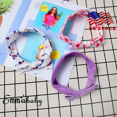 3PC Baby Girl Cute Sweet Big Bow Ribbon Hair Accessories Headband Bow Hair Band