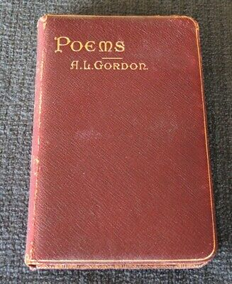 Fire Sale !!Poems With Portrait A L Gordon 1905 Astroea College Chatswood Prizee