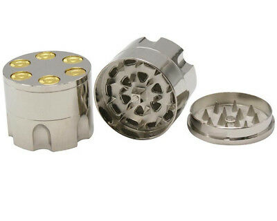 Herb Grinder Spice Tobacco Zinc Alloy Smoke Hand Muller Metal Crusher silver new