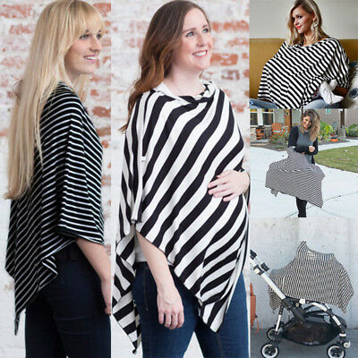 Fashion Nursing Scarf Cover Up Apron for Baby Car Seat Canopy Cover Shawl AU