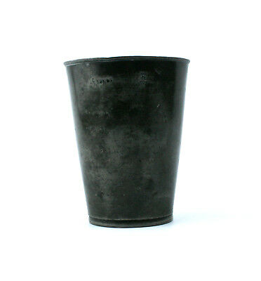 Antique Victorian Pewter 1/2 Pint Beaker Cup VR Mark