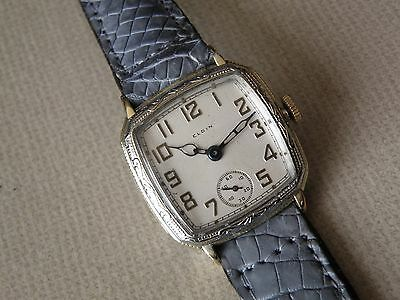 1930 Men`s 2 Tone Elgin *Legionaire* Men`s ..New Dial,New Crystal,New Croc Band