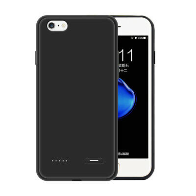 For iPhone 6 7 8 Plus Rechargeable External Power Backup Battery Charger Case US