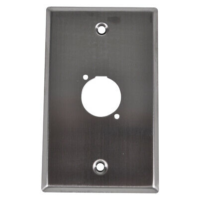 """Seismic Audio Single Gang Stainless Steel Wall Plate - For """"D"""" Size Connectors"""