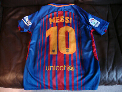 Lionel MESSI No.10 Nike Barcelona Dry Fit Home Shirt 2018 Junior Size 152