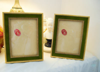 One French wood vintage Louis XVI style frame picture painting photo