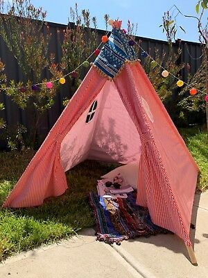 Teepee Kid Play Tent Set Party Photography props Home Decor Clearance Sale