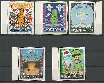 Sharjah 1967 ** série 5 t Scoutisme Jamboree Idaho Baden Powell Feu de camp Main