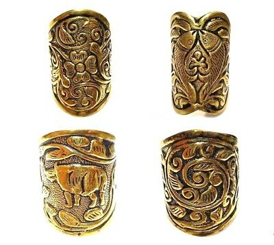 Choose Any One 925 Solid Brass Vintage Style  Ring Size Adjustable A