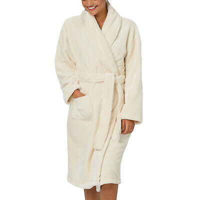 Animal Womens Snugly Long Sleeve Supersoft Loungewear Robe Dressing Gown-Coconut