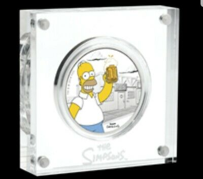 2019 The Simpsons - Homer 1oz $1 Silver Dollar Proof Coin