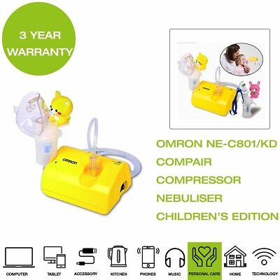 *Brand New* Omron NE-C801/KD CompAir Compressor Nebuliser Kid's Edition - Yellow