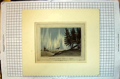 Original Old Antique Print Colour 1813 Shooting White Hare Tornio Hunting Sport