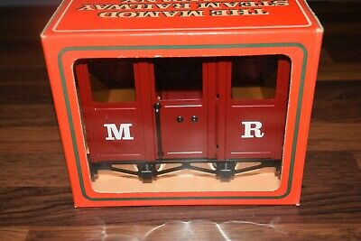 Genuine 1980s Mamod Steam Railway RW5 boxed passenger coach wagon excellent no2
