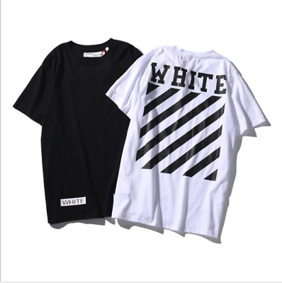 New OFF T-Shirt a manica corta da uomo WHITE Graffiti Print cotone T-shirt