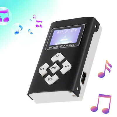 Mini MP3 Stereo Music Player LCD Digital Screen with Clip Support 32GB Micro SD