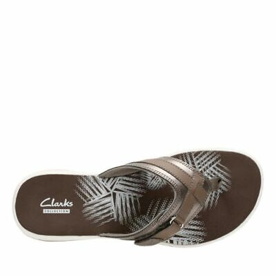 f2a420084 CLARKS 26125509 BREEZE Sea New Pewter Synthetic Women s Flip Flops ...