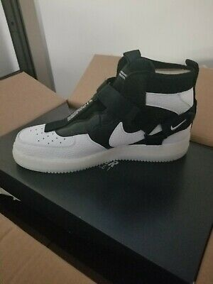 low priced 64f6e 85ba4 NIKE AIR FORCE 1 UTILITY MID ORCA OFF WHITE BLACK Mens size 11 WMNS Size  12.5