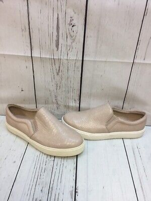 a9dd134cb13f81 ALDO Beige Textured Leather Slip On Low Top Fashion Shoes Women s Size 10