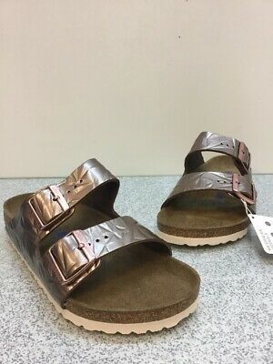 3b2de56e77e0 Birkenstock Arizona Bs Spectral Copper Birko-Flor Buckle Sandals Women s  Size 39